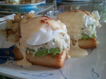 Dungeness crab eggs benedict