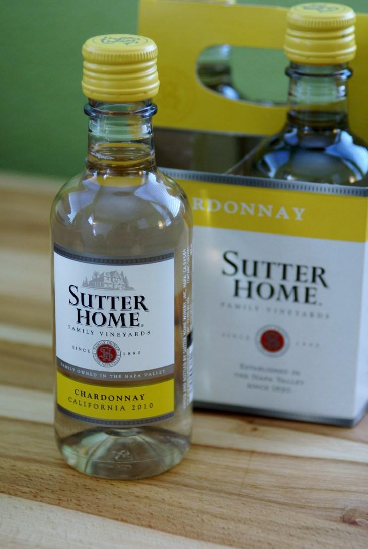 187ml bottle of Sutter Home Chardonnay