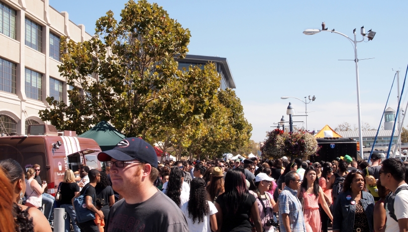 Crowds at Eat Real Fest