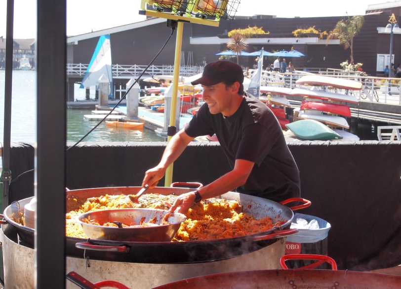 Serving Paella