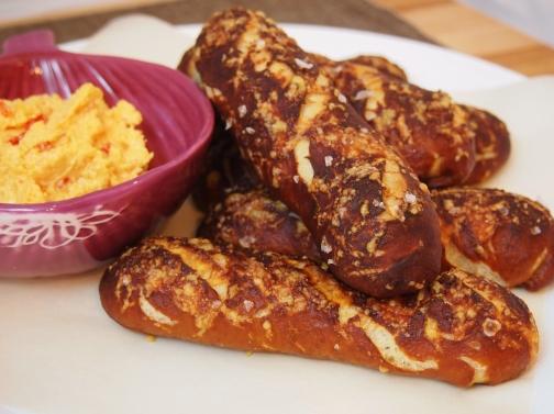 Pimento Cheese Pretzel Breadsticks