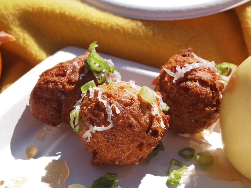 Scallion hush puppies from Dixie