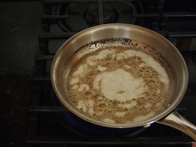 Foamy browning butter