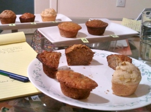 5 recipes test for banana muffins