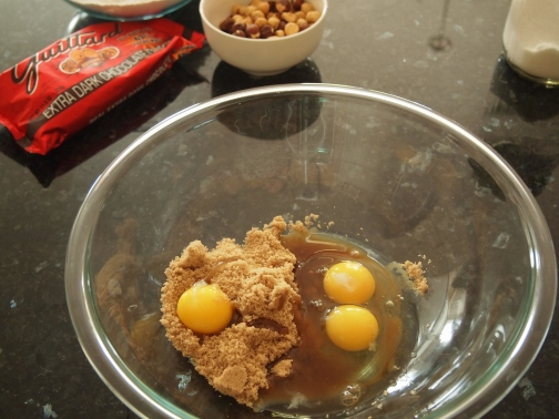 Brown sugar and eggs