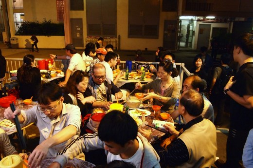 Dining scene Wo Che Estate Market Food Stalls Sha Tin