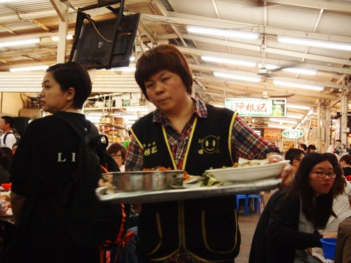 Server at Wo Che Estate Market Food Stalls Sha Tin