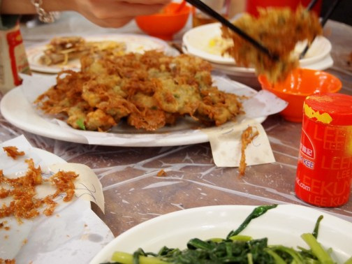 Oyster Pancakes at Wo Che Estate Market Food Stalls Sha Tin